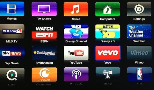 Apple TV vevo disney update Apple TV updated with Disney Channel, Disney XD, Vevo, Weather Channel and Smithsonian apps