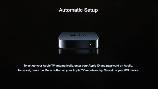 apple tv 6.0 auto setup