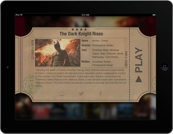 infuse ipad ticket Giveaway: win a copy of Infuse   the best video player for iPhone/iPad we've ever used
