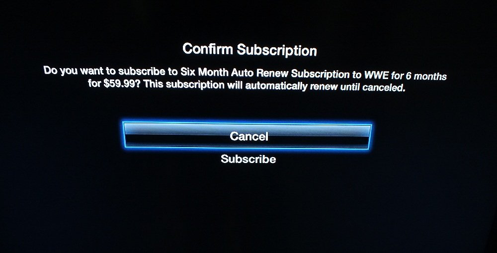 WWE Network Apple TV 3