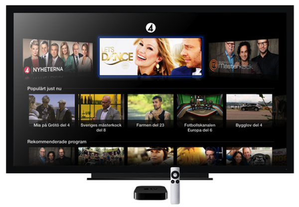 tv4 sweden apple tv TV4 network launches on Apple TV in Sweden