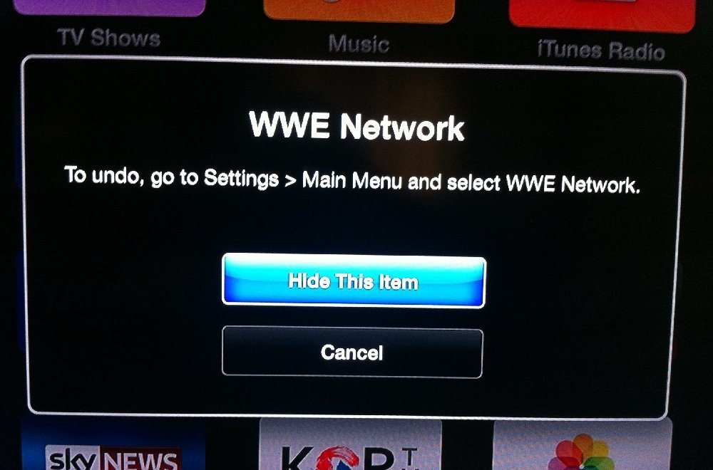 Hiding, rearranging icons channels on Apple TV 6.1