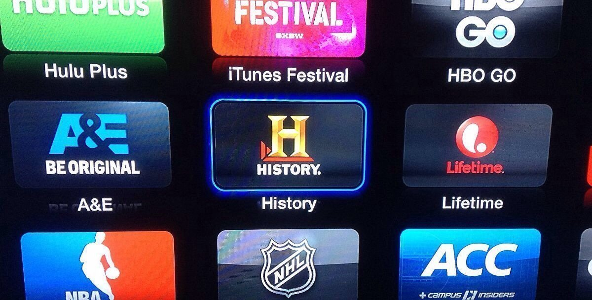 New channels on Apple TV: A&E, Lifetime and History Channel