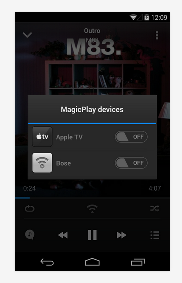 cast from android to apple tv