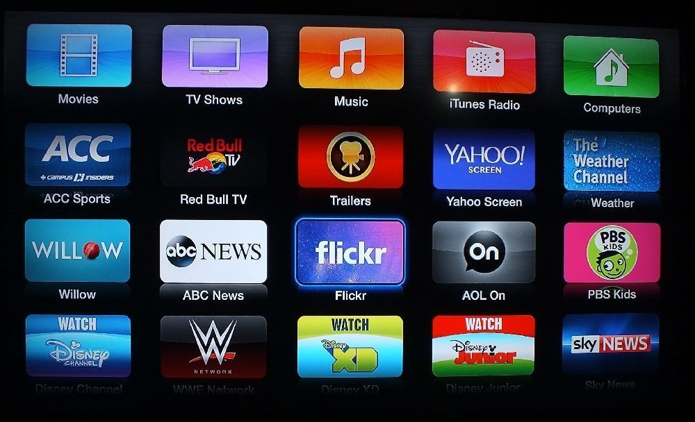 Apple TV new channels Apple TV gets ABC News, PBS Kids, AOL On, Willow TV and an updated Flickr channel