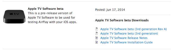 apple tv beta Apple seeds Apple TV 7 beta 1 to developers, drops support for 2nd gen. Apple TV? (updated)