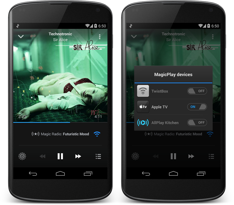 MagicRadioAirPlay Magic Radio for Android can now AirPlay to your Apple TV
