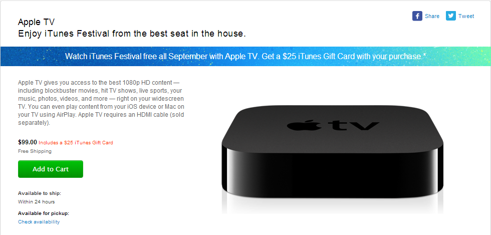 25 git card apple tv