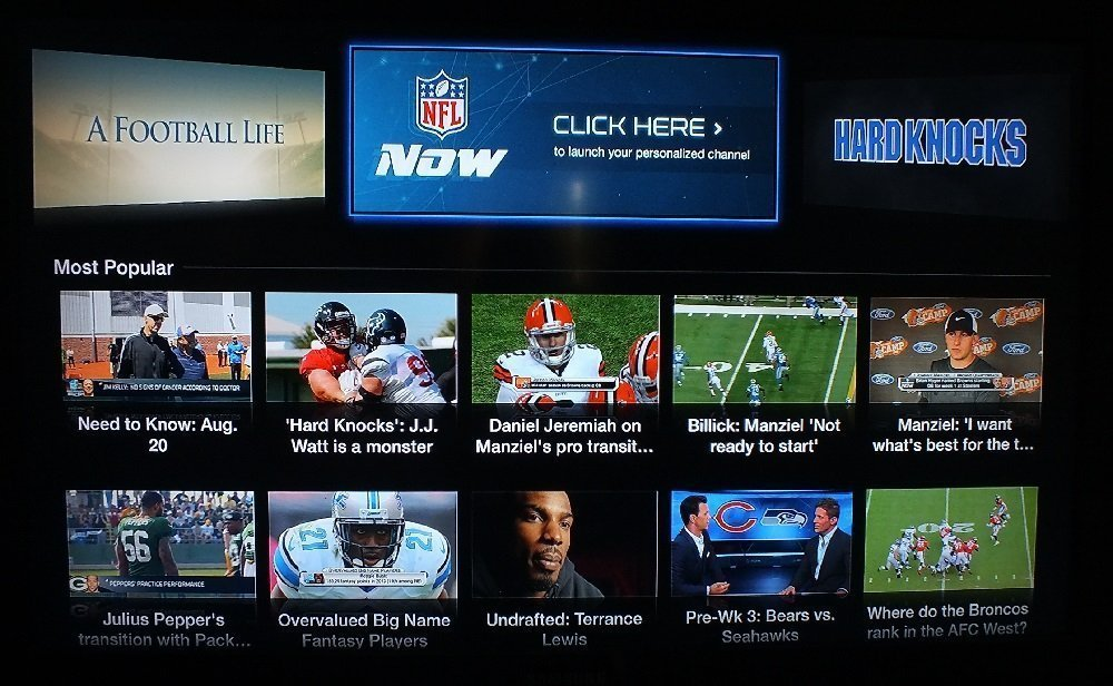 NFL Now on Apple TV NFL Now channel arrives on Apple TV