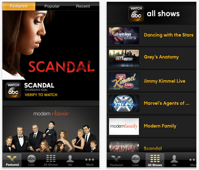 WatchABC Airplay Watch ABC app for iOS gains AirPlay support