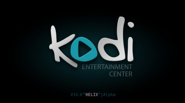 kodi splash 600x336 Kodi (former XBMC) 14 Helix alpha 2 for Apple TV 2 is now available