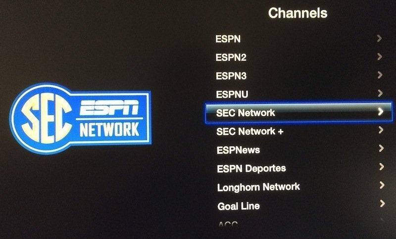 sec longhorn apple tv WatchESPN channel gets SEC and Longhorn Network
