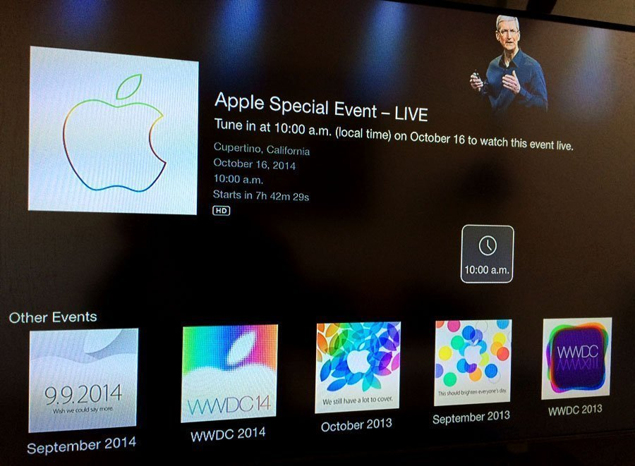 apple event channel apple tv 2 3 Apple Events channel now available on Apple TV for todays iPad/iMac event