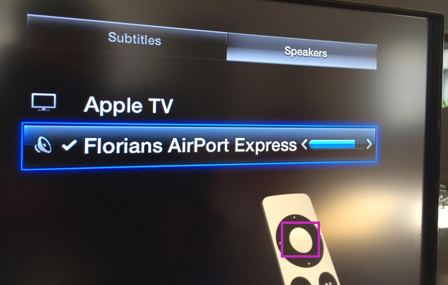 Can even apple tv airplay speakers not working them