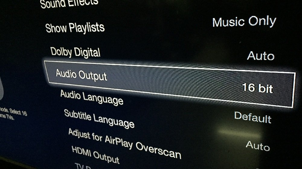 Apple TV Audio 16bit