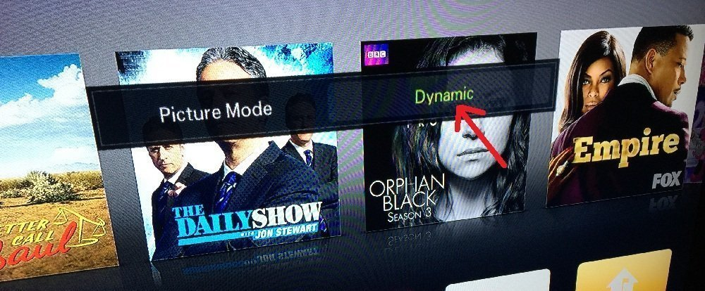 Dynamic Mode APple TV