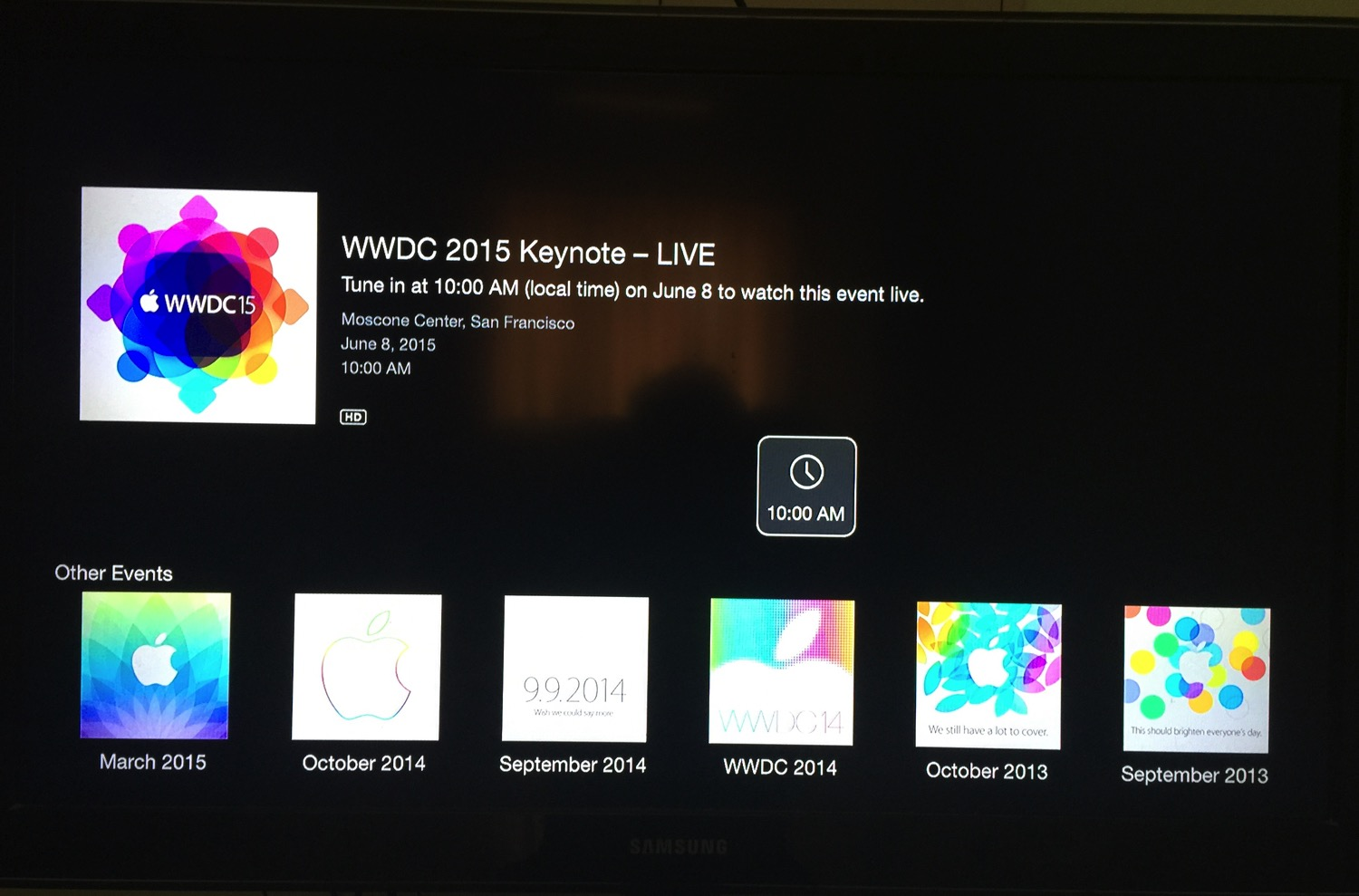 2015 wwdc - Events channel