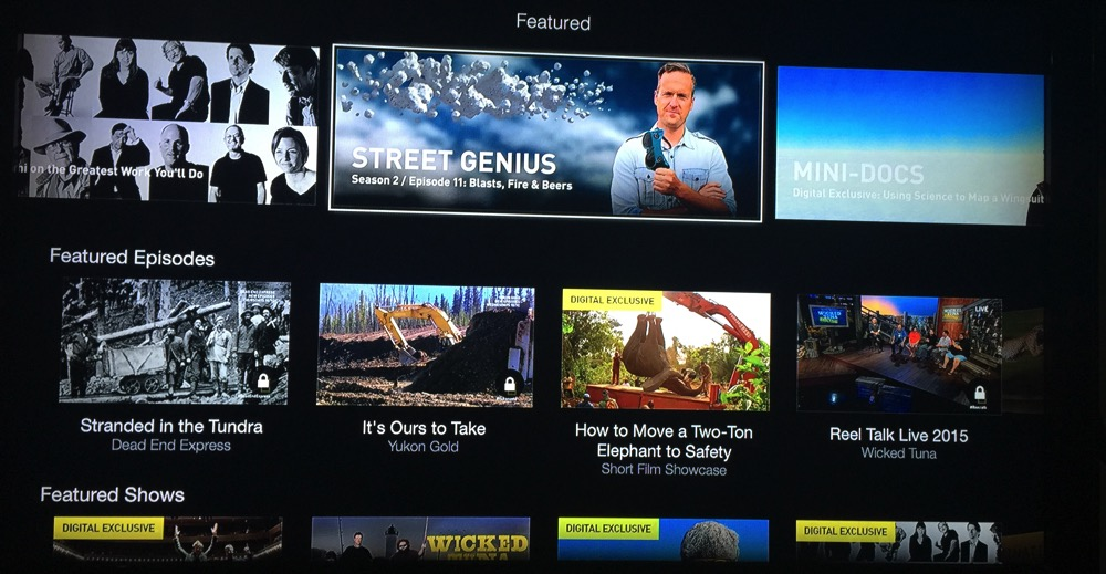 Nat Geo TV Channel - Apple TV - Home