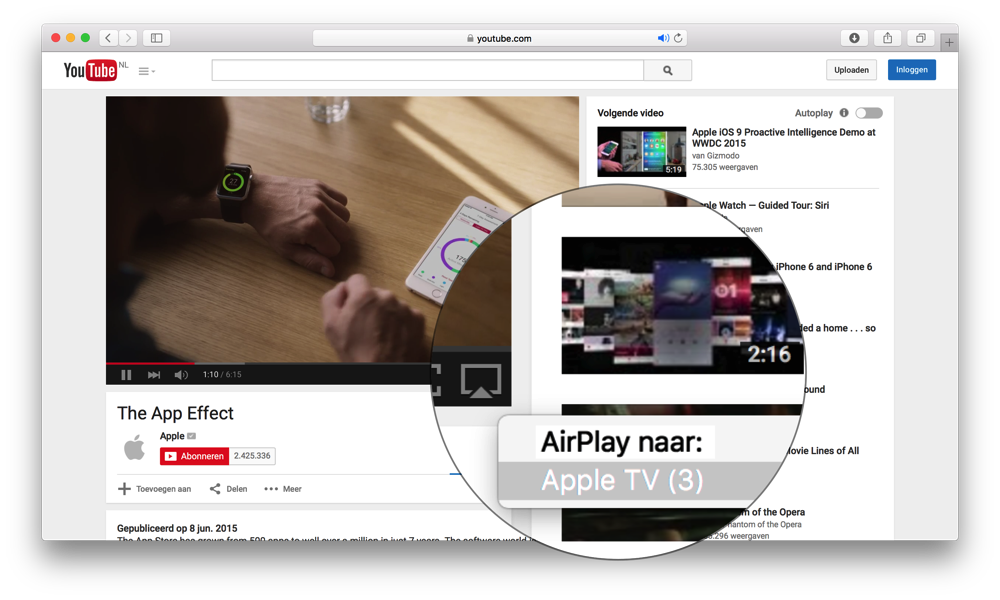 el capitan airplay safari video