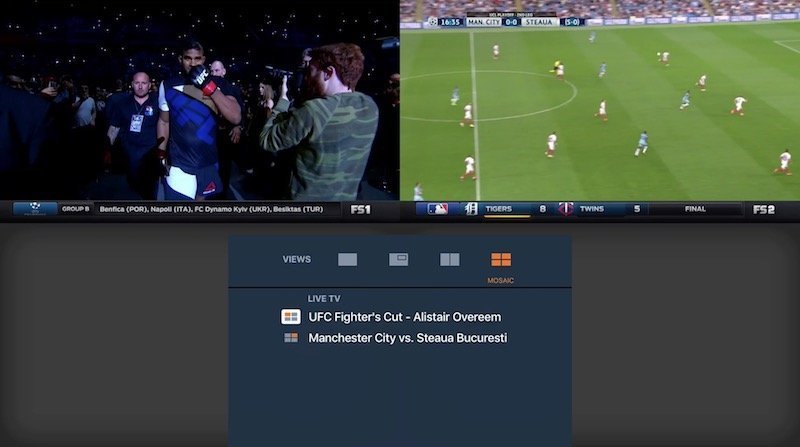 fox sports go apple tv split screen