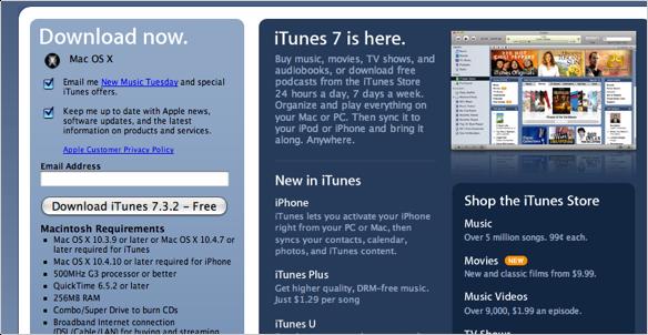 iTunes 7.3.2