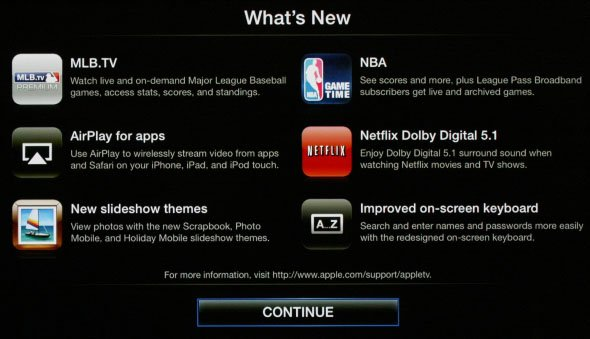 Apple TV 2 Software Update 4.2