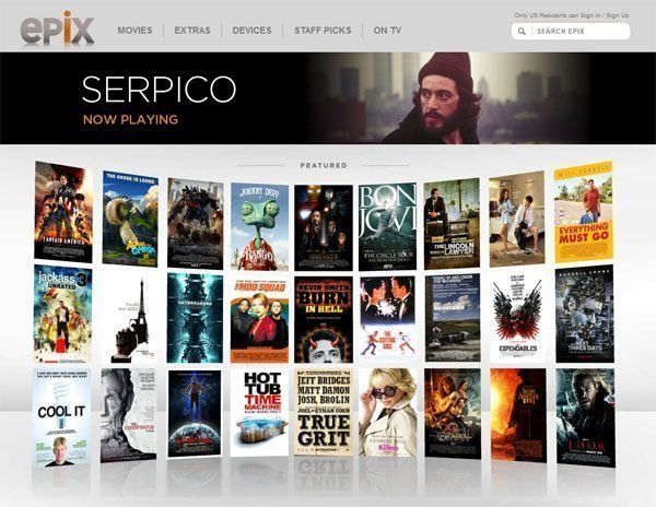 Epix on Apple TV set