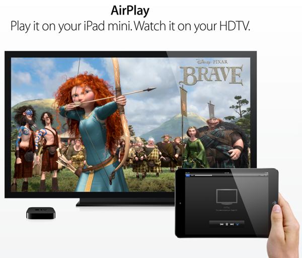 iPad mini AirPlay Mirroring