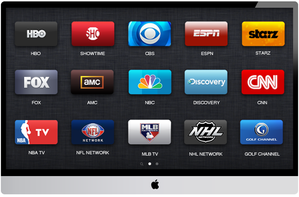 Apple TV set HDTV concept