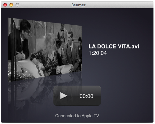 Beamer - a better way to AirPlay video from your Mac to