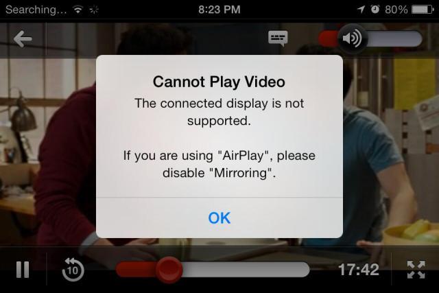 Netflix bug Apple TV