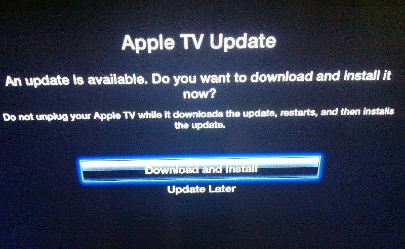 Apple TV software update 6.0.2
