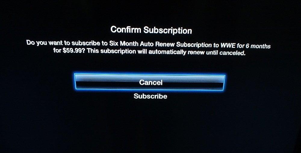 WWE Network Apple TV 3