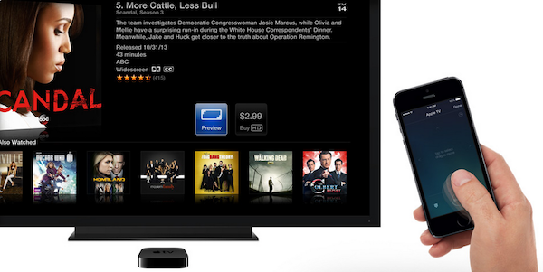 Remote app Apple TV