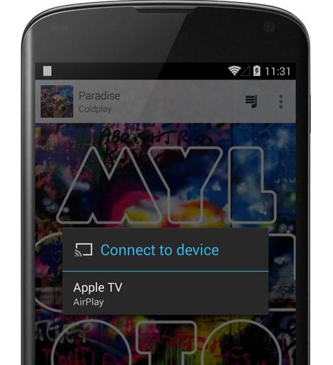 Google PlayMusic AirPlay
