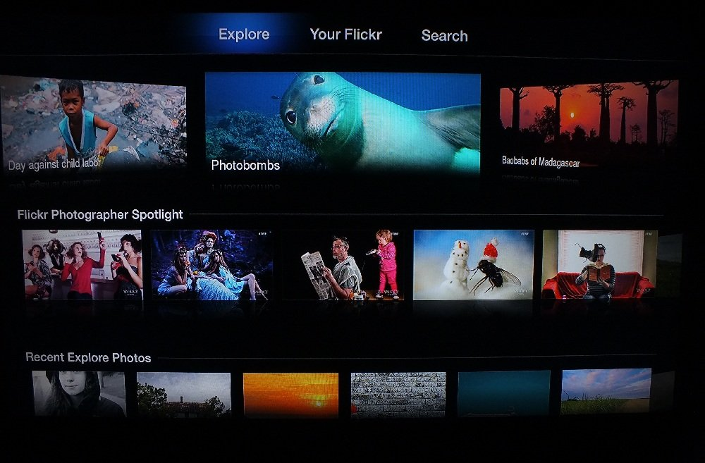 Apple TV Flickr Channel
