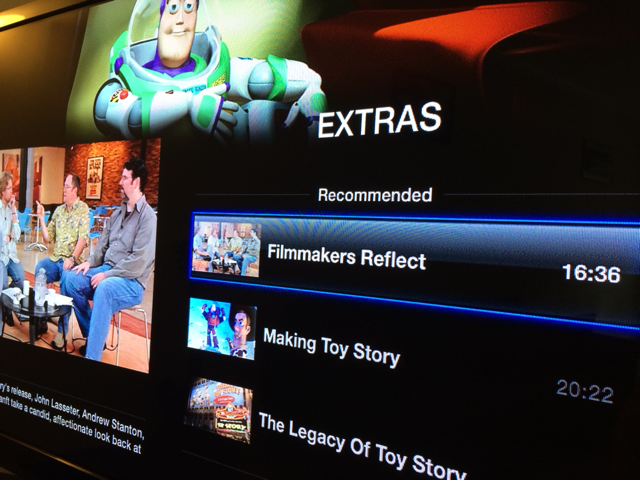 iTunes Extras on Apple TV