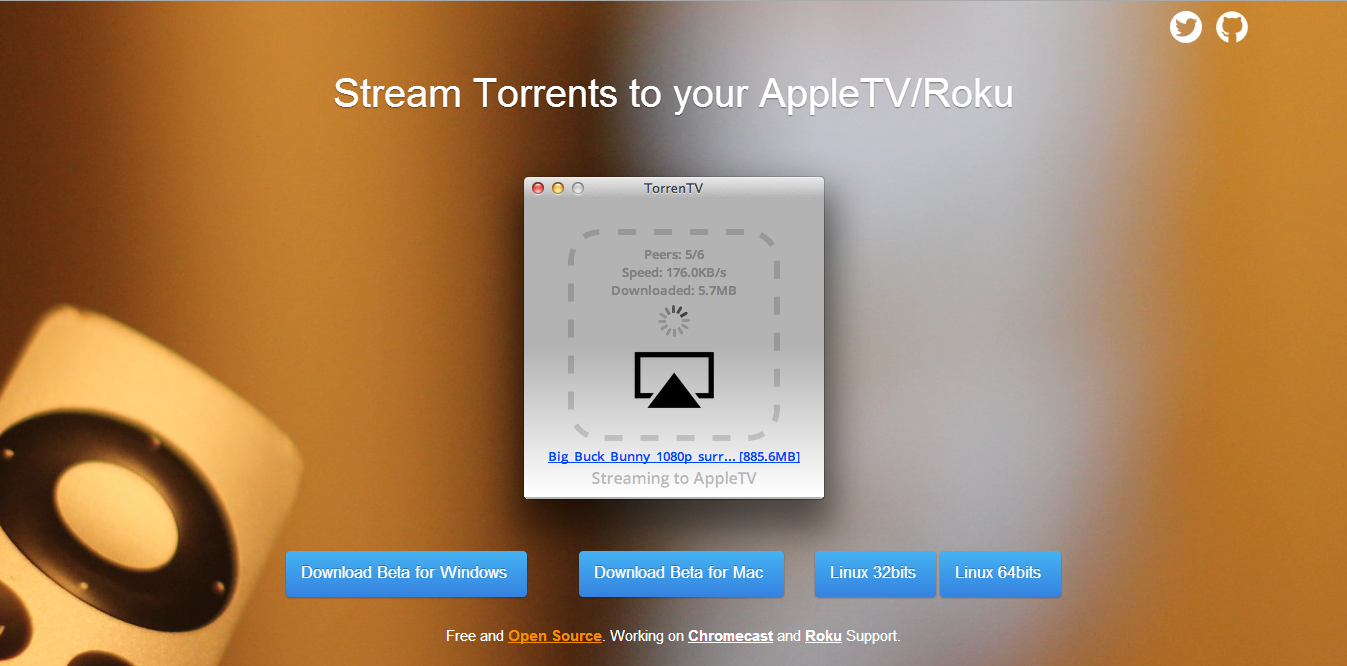 TorrenTV on Apple TV