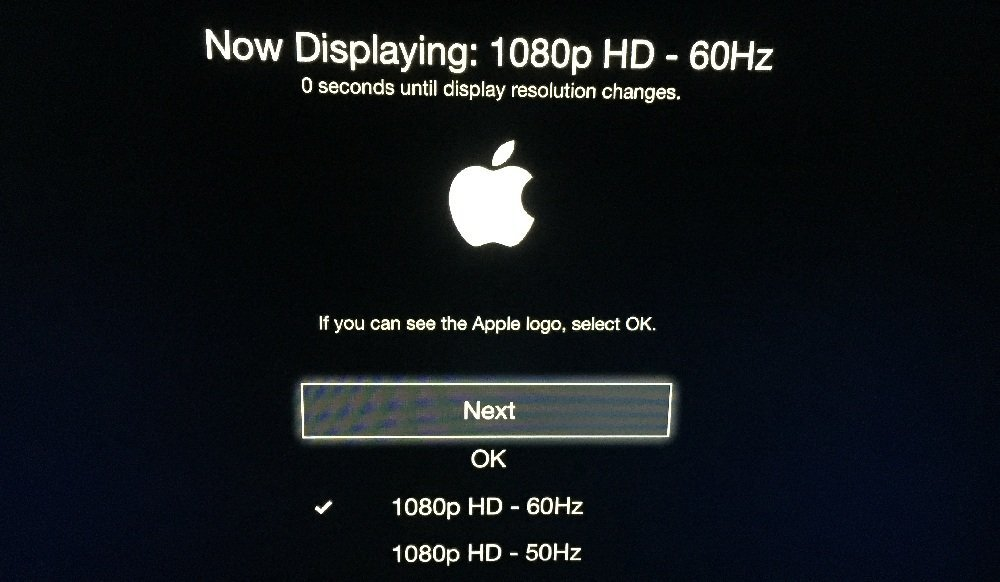 Change Apple TV Resolution