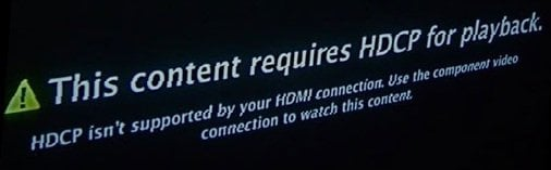 HDCP playback error Apple TV