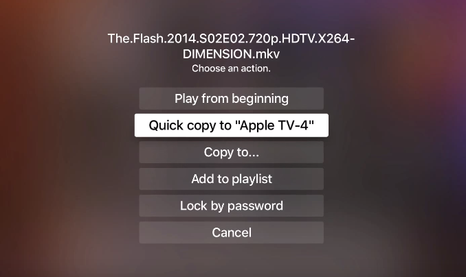 How to save media files to your Apple TV 4 'hard drive' for