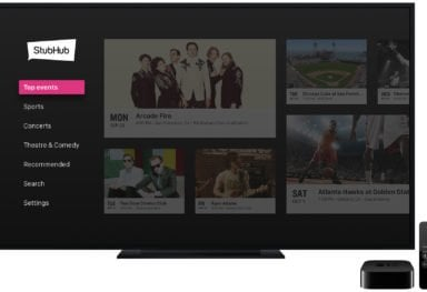 StubHub Apple TV