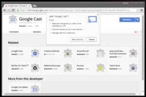 How to install the Google chromecast extension